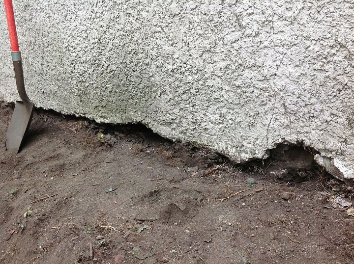 q can i fill the large gap between the foundation and my stucco siding, curb appeal, home maintenance repairs