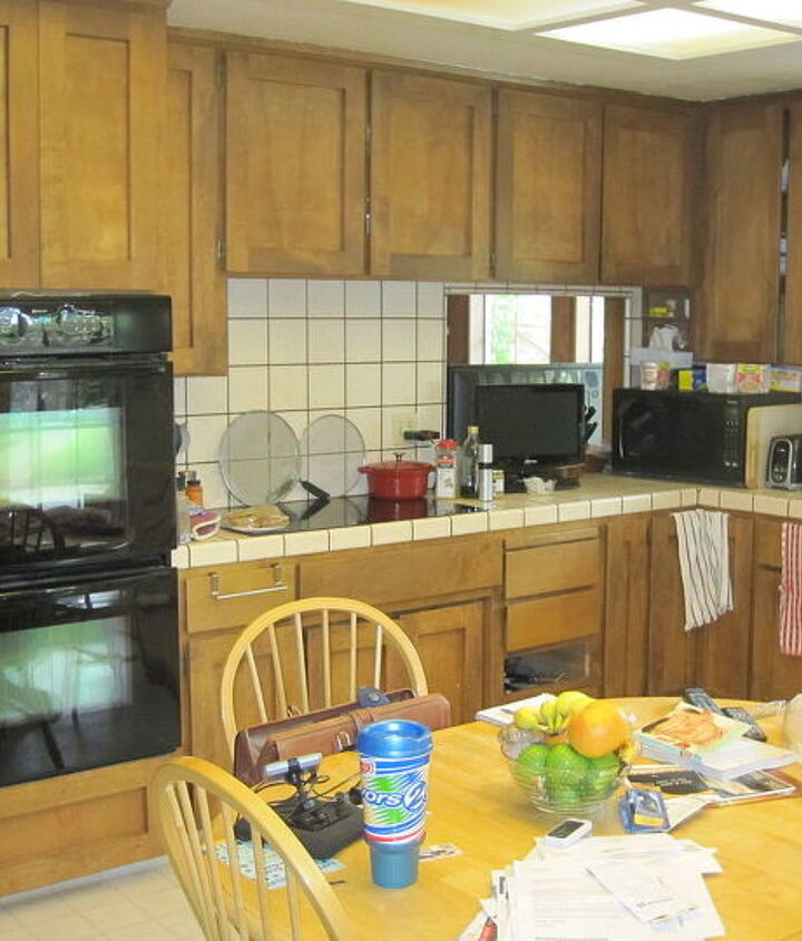 Before- The design also called for removing the bearing wall that separated the kitchen and family room.