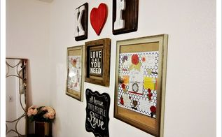 create a gallery wall with love notes and keepsakes, home decor, wall decor