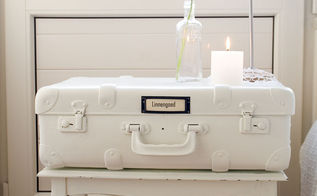 how to paint suitcases, painting, repurposing upcycling