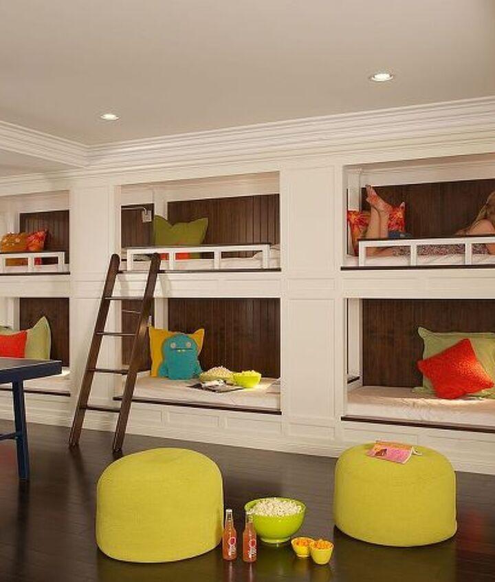 Custom bunkbeds for slumber parties! Renovation by Titus Built, LLC.