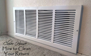 how to clean your return air vent, cleaning tips, home maintenance repairs, how to, hvac