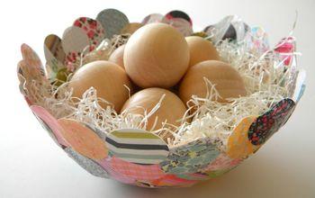 paper mache confetti bowl, crafts, decoupage, Use your bowl as a seasonal decor piece