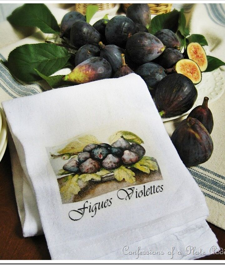 Fall figs and a tea towel