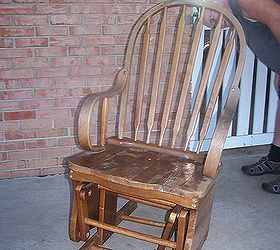 Rocking Chair Repair And Refinish, Painted Furniture, Shabby Chic, Poor  Little Rocker Someone