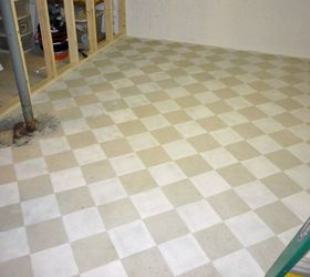 checkerboard painted concrete basement floor in new craft room i m building basement ideas concrete & Checkerboard painted concrete basement floor in new craft room Iu0027m ...
