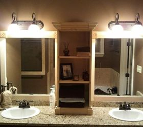 i used this idea and revamped my large bathroom mirror this weekend here are my