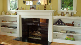 q what do i do with this fire place, fireplaces mantels, home decor, living room ideas, fireplace with shelves