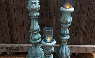 faux concrete candle holders mason jars unique outdoor lighting, concrete masonry, mason jars, repurposing upcycling