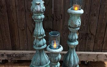 faux concrete candle holders mason jars unique outdoor lighting, concrete masonry, mason jars, repurposing upcycling