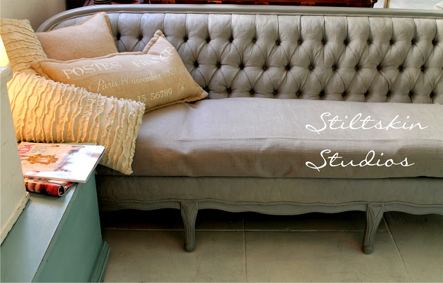 the painted sofa, painted furniture