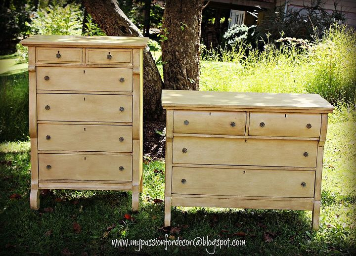 creamy empire dresser makeovers, bedroom ideas, chalk paint, painted furniture, Chalk Paint by Annie Sloan in Cream