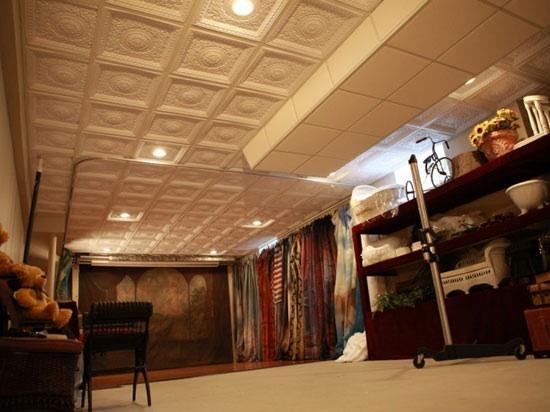 creative diy renovation ideas using ceiling tiles, remodeling, tiling, walls ceilings
