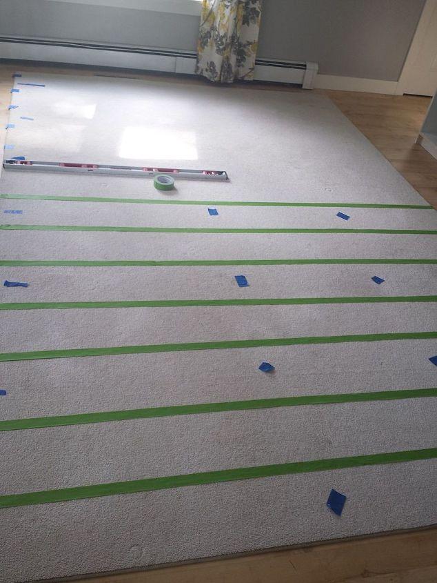 diy painted rug, flooring, home decor, living room ideas