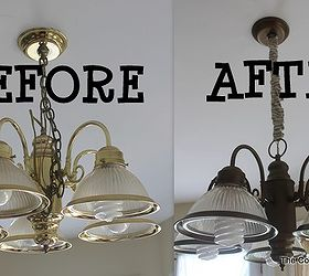 Brass light fixture updating