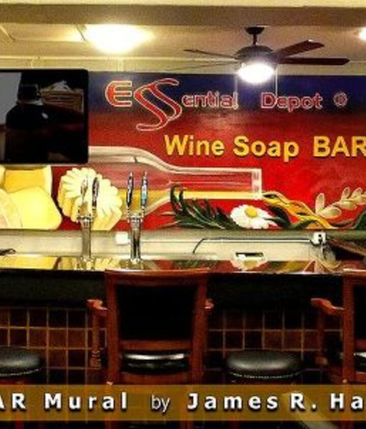 Hahn mural for Wine Soap Bar in Sebring FL