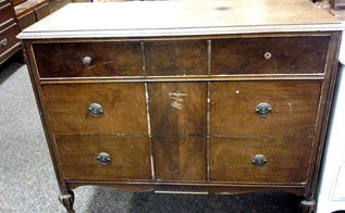 antique dresser to coffee server, chalk paint, painted furniture