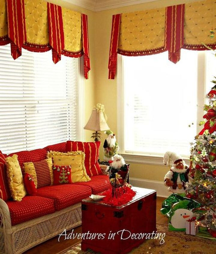 BEFORE ... beautiful and bold shades of reds, golds and greens filled their spaces, but it was time for a change!