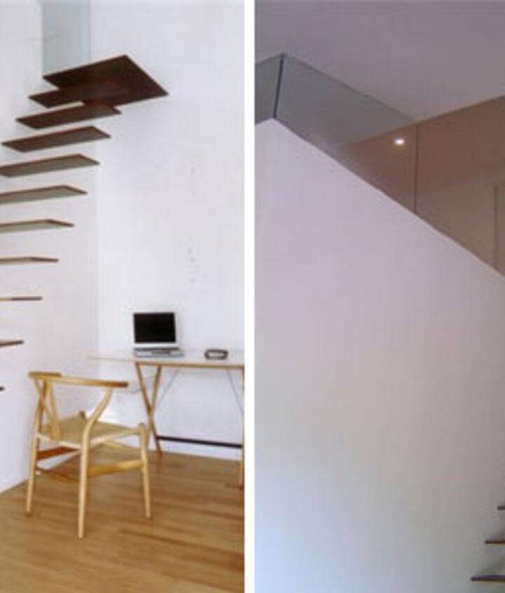 Scary right!?  Believe it or not these stairs will hold up to 440 lbs on each step made of reinforced steel says Spanish designer!