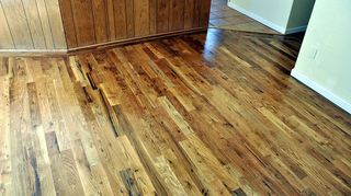 q we have hardwood floors before we moved in 10 yrs ago we had them refinished, flooring, hardwood floors, rich warm looking oil based finish