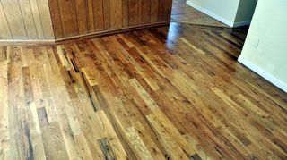 q how do i handle new hardwood floors that scratch really easily they finished my oak, flooring, hardwood floors, Three coats of a nice oil based finish