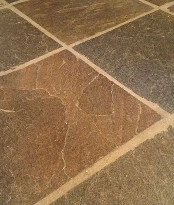 q mopping a slate floor, cleaning tips, flooring