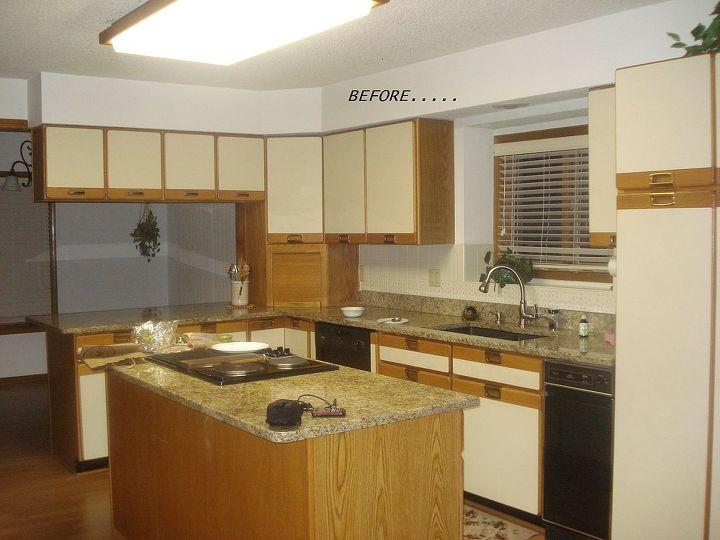 diy 80 s kitchen update, diy, home improvement, how to, kitchen design, kitchen island, Before Granite already existing