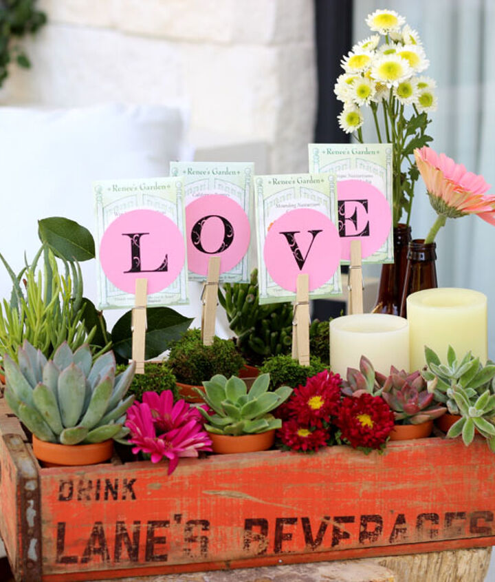 Besides Valentine's Day, this  arrangement would be great for Mother's Day, or any spring celebration.