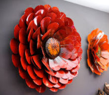 hey guys these are photos of my renovation for cbs better mornings atlanta shoot, home decor, close up of metal flowers they make me smile