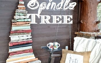 I Made a Christmas Tree Using Old Spindles That Gives Me #holidaycheer