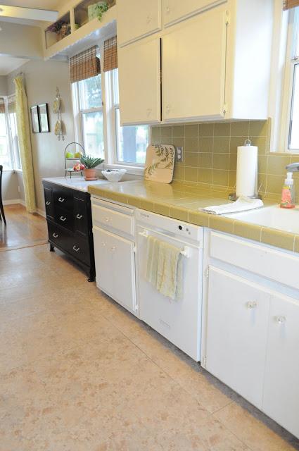 Kitchen back view