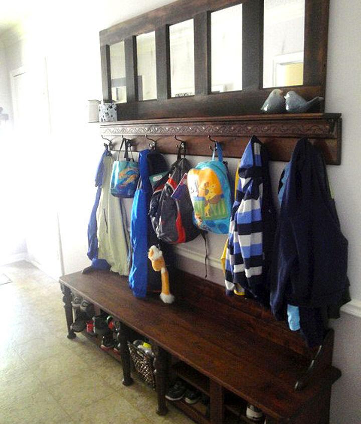 Mudroom Shoe storage bench & Door coat rack