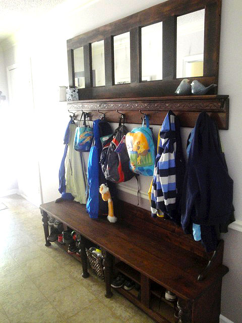 Mudroom Storage Bench Made From Kitchen Cabinets Laundry Rooms Painted Furniture Shoe