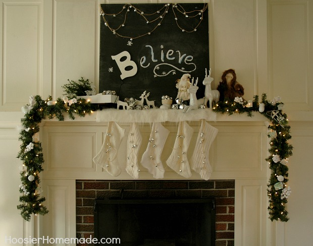 our christmas mantel was inspired by jingle bells and always being able to hear the, seasonal holiday d cor