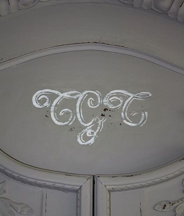 added a monogram to our new to us armoire.