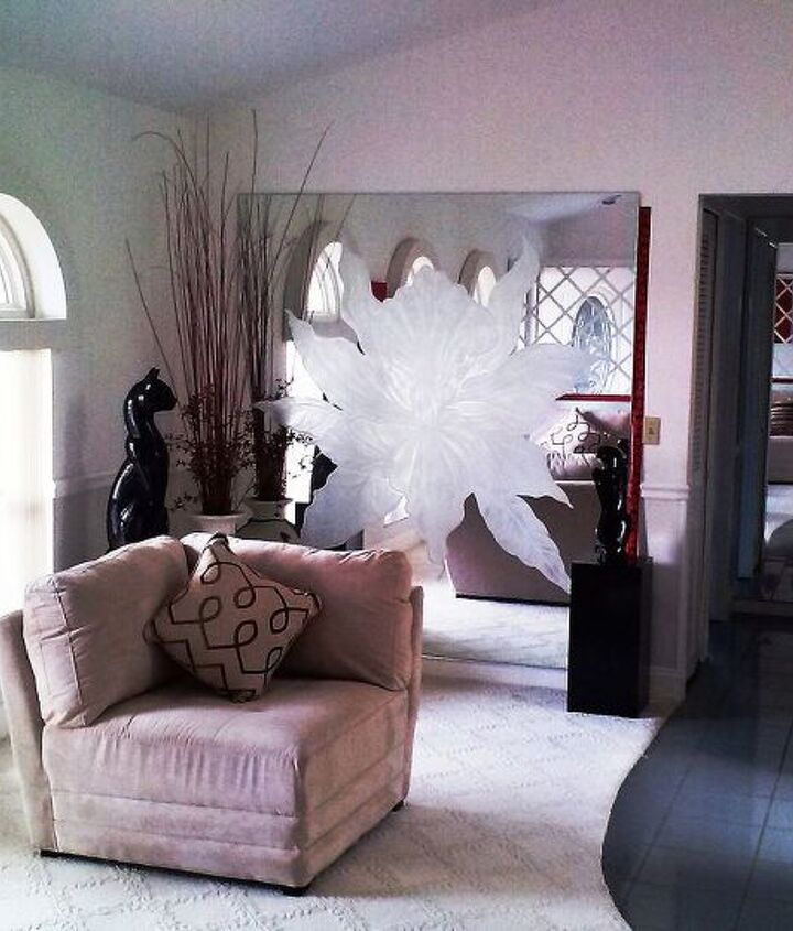 living room etched glass mirror, home decor