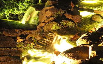 underwater landscape lighting in monmouth county nj, landscape, lighting, outdoor living, ponds water features, Underwater lighting on waterfalls