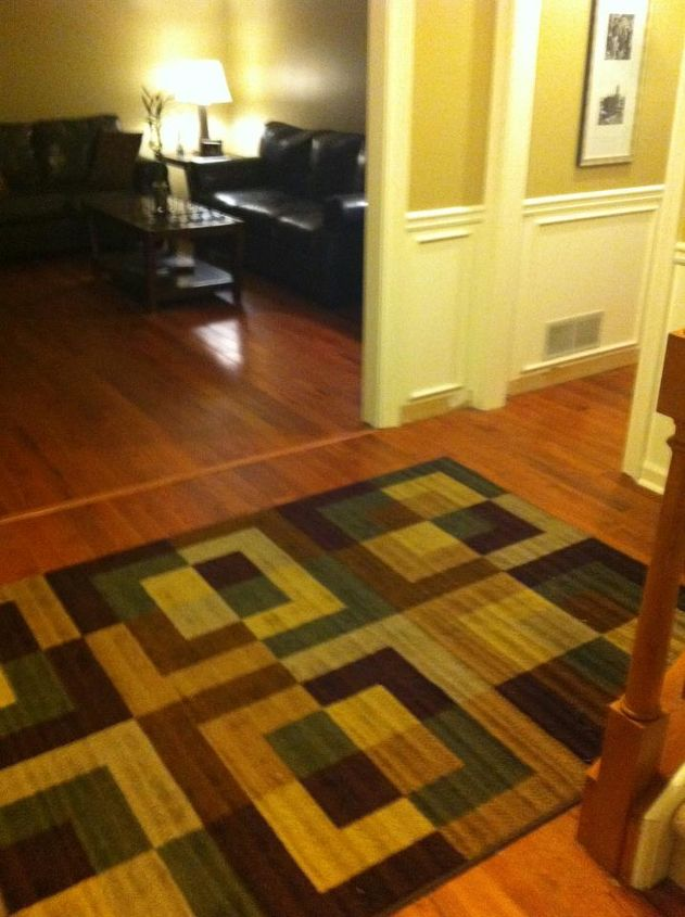 My Fiance A Huge Diy Er And I Replaced The Carpet With Real Hardwood Floors This