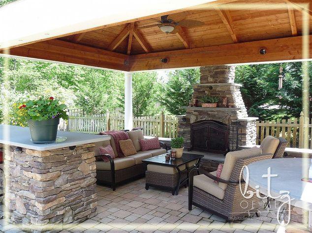 outdoor patio cabana fireplace fireplaces mantels landscape outdoor living patio - Outdoor Living Patio