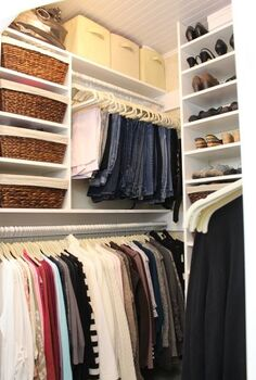 how a girl built her closet, bedroom ideas, closet, diy, how to, shelving ideas