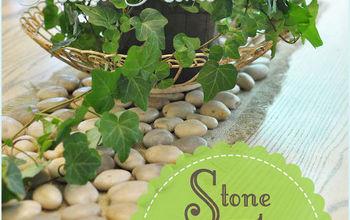 DIY Stone Table Runner