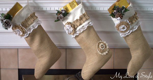Easy DIY Burlap Christmas Stocking Tutorial