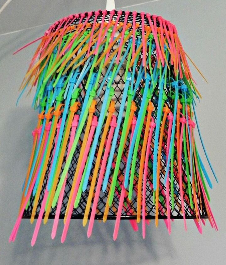 The light has great color and texture when the light is off.  http://www.madincrafts.com/2012/10/ombre-neon-zip-tie-pendant-lamp.html