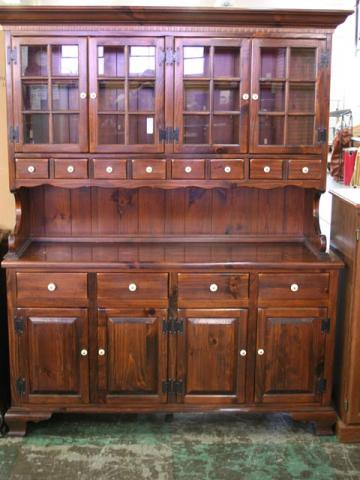 This is what the hutch looked like when we bought it, but ours didn't have the bottom buffet.