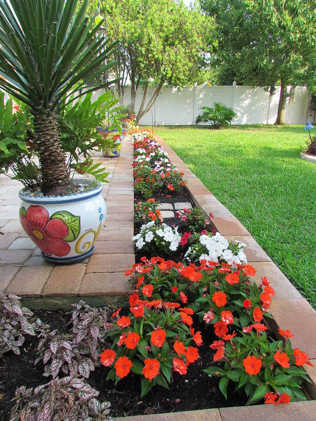 garden flower bed border before and after, flowers, gardening, perennials