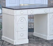 elegant country chic desk redo, painted furniture, Very Classy and elegant