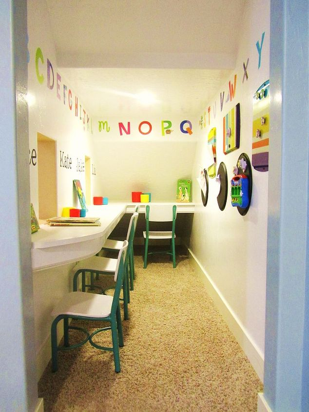 Storage area turned into a play school! | Hometalk