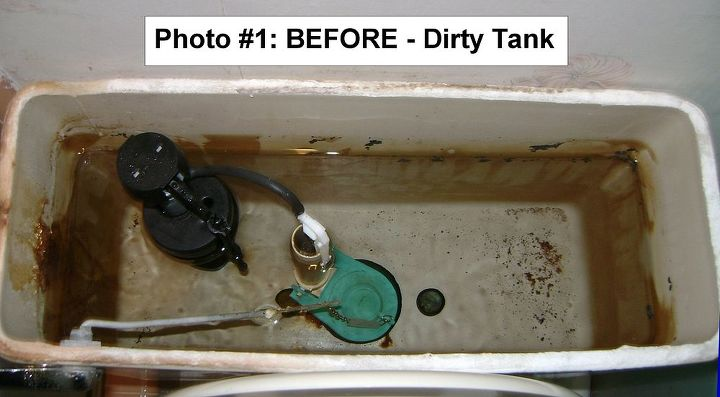 This is a very dirty Toilet Tank which sends crud down to the toilet bowl.