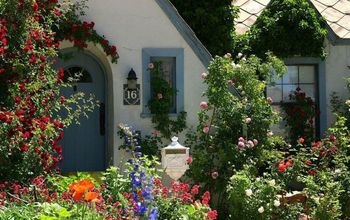 gardening and curb appeal, curb appeal, gardening, Front door garden at The Garden Cottage