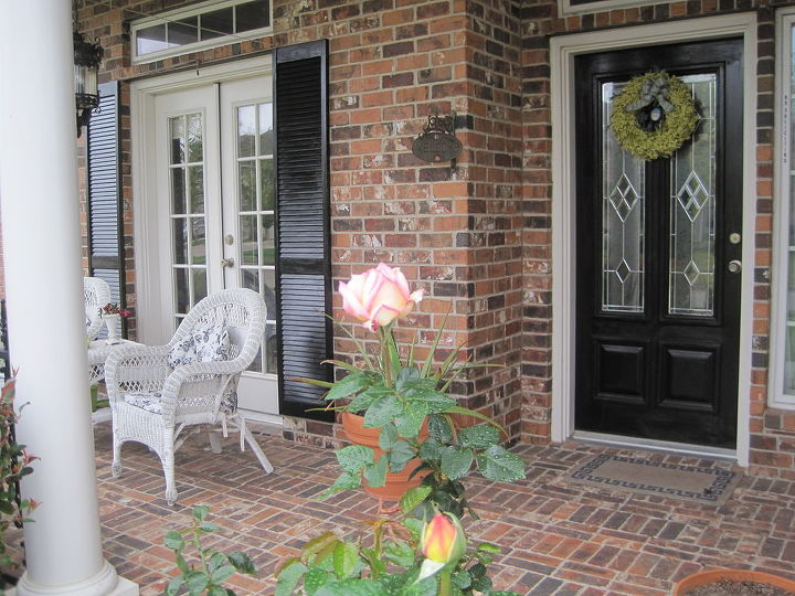 new porch, curb appeal, doors, fire pit, porches, my new porch